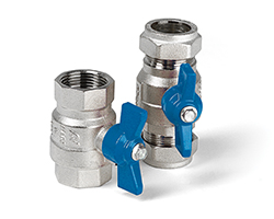 Series 171 & 373 Butterfly Lever WRAS approved Ball Valve with Compression & Threaded Connections