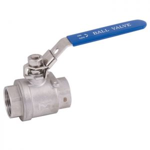 Stainless Steel 2 Piece Full Bore Ball Valve